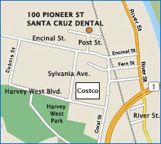 Map of our location in Santa Cruz